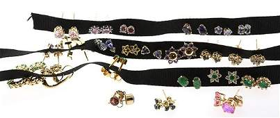 Collection of gemstone earrings