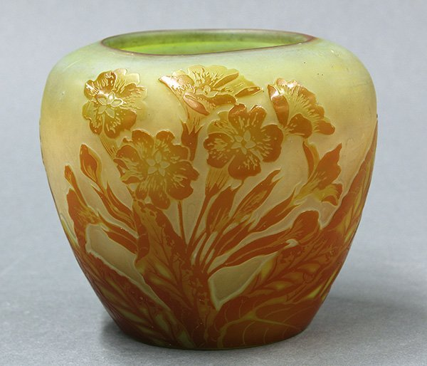 Emille Galle cameo glass vase