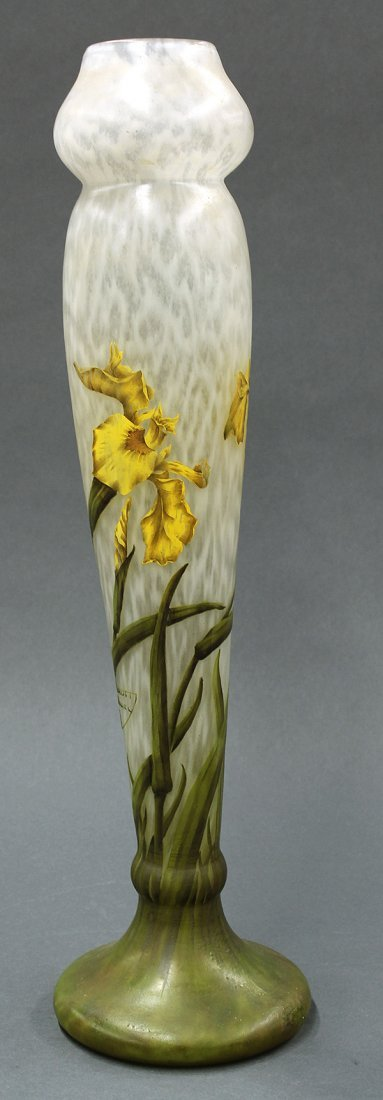 Daum Nancy art glass vase