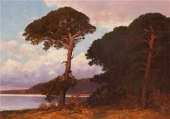 Painting, Robert William Wood, Twilight, Monterey
