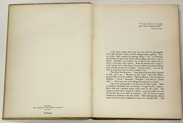 Book, Henri Cartier-Bresson, The Decisive Moment, 1952 - 3