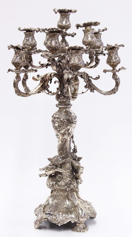 Austro-Hungarian Renaissance Revival candelabra