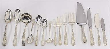 American sterling silver partial flatware service for