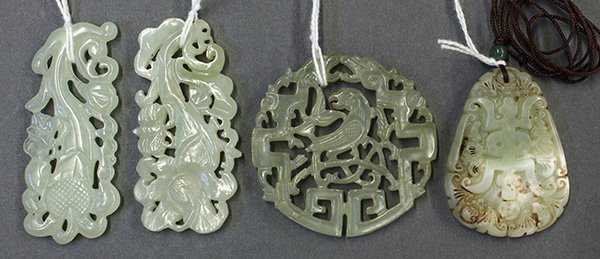 Group of Chinese Hardstone Plaques