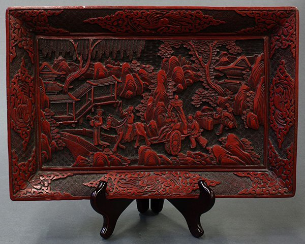 Chinese Lacquered Cinnabar Tray