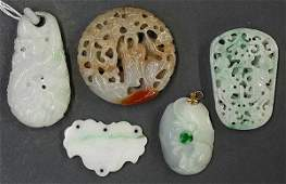 Group of Chinese JadeHardstone Toggles