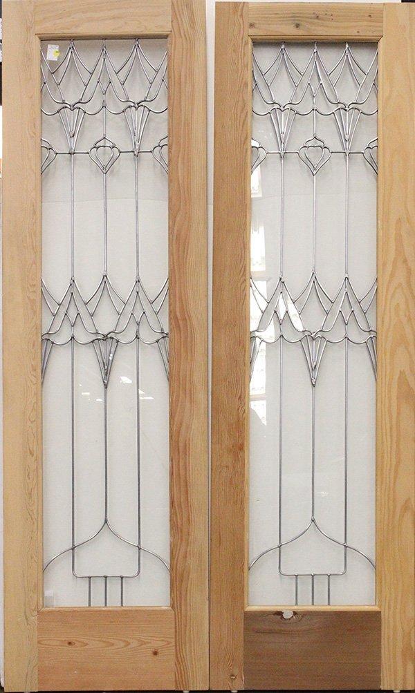 Art Nouveau style leaded glass,