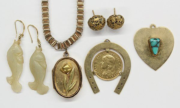 Collection of gold and gold filled jewelry