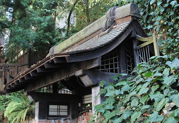 Japanese roof form architectural element, 6'h x 11'w x