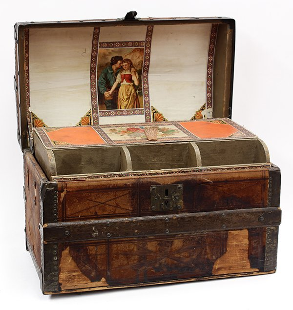 Victorian trunk and quilt