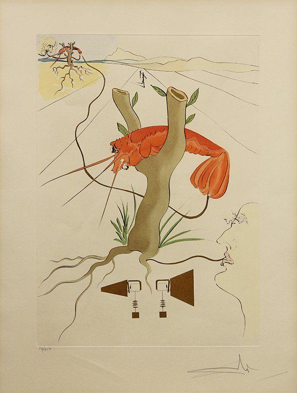 Print, Salvador Dalí, Le Telephone