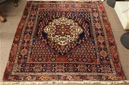 Semi antique Persian Afshar carpet 42 x 51