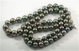 Black South Sea cultured pearl necklace