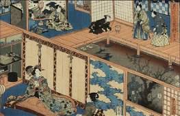 Japanese Woodblock Print Utagawa Toyokuni III19c