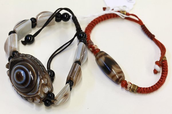 Two Chinese Bead Bracelets
