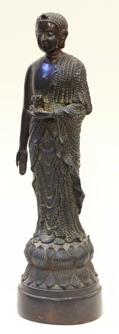 Indian Bronze Standing Buddha