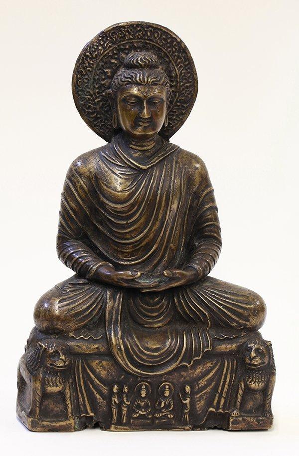 Indian Metal Seated Buddha