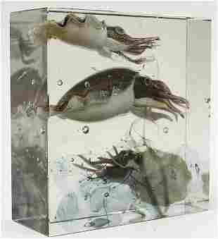 Alfredo Barbini for Pauly Murano glass 'Aquarium Block'
