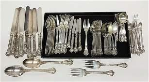 "Gorham ""Chantilly"" pattern sterling silver flatware,"