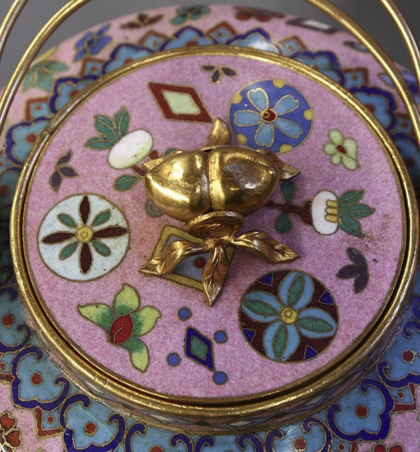 Group of Chinese Pink Enamel Items - 6