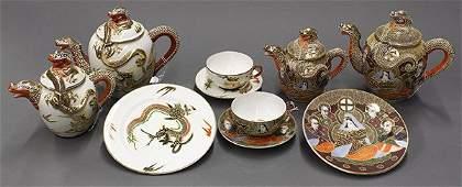 Japanese Kutani Geisha Girl, Dragonware Tea/Coffee Set