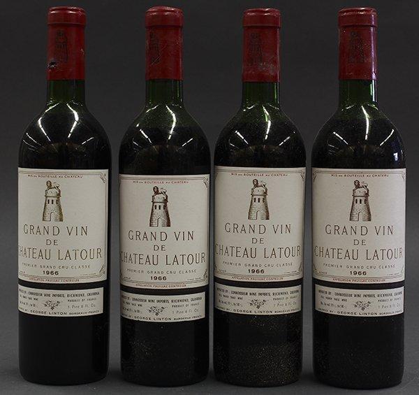 (lot of 4) 1966 Chateau Latour, Pauillac, France, each