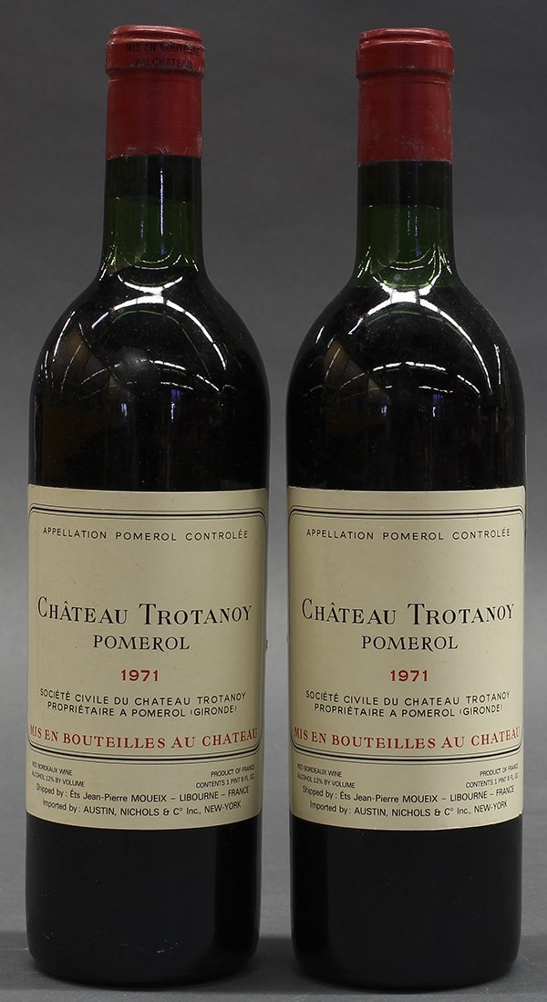 (lot of 2) 1971 Chateau Trotanoy, Pomerol, France, each