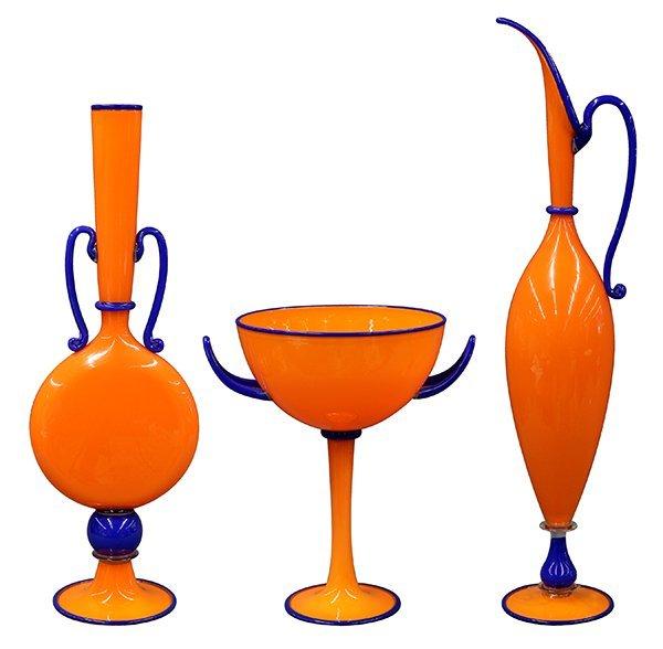 Monumental Dante Marioni art glass group