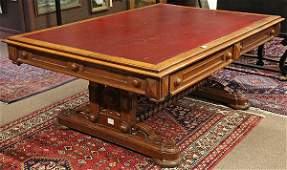 Renaissance Revival library table circa 1870 executed