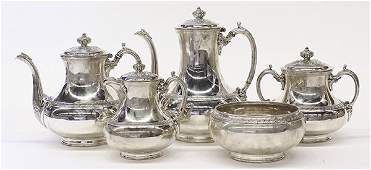 19th century Tiffany  Company sterling silver five