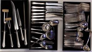 American sterling silver flatware service by Towle in