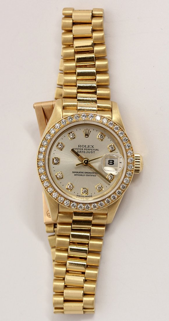 Lady's Rolex Datejust President, Peggy Fleming