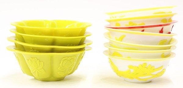 Group of Chinese Peking Glass Bowls