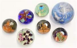Lundberg Studios art glass paperweights