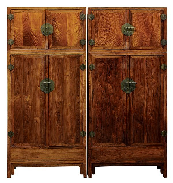 Chinese Huanghuali Compound Cabinets