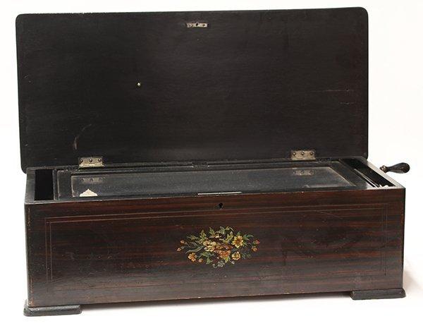 Swiss inlaid music box