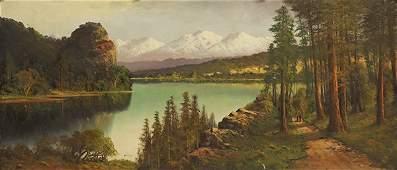 Painting, Joseph John Englehart, Olympic Mountains