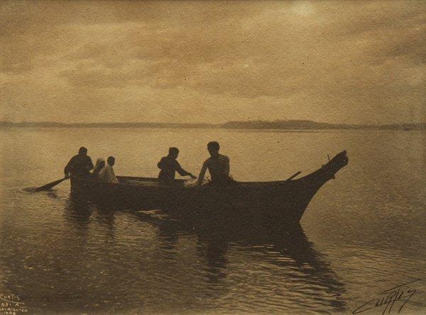 Photograph, Edward Curtis, Homeward Bound