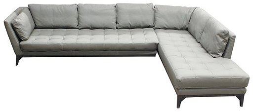 French Roche Bobois leather modular sofa