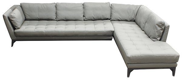French Roche Bobois leather modular sofa