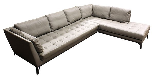 French Roche Bobois leather modular sofa - 3