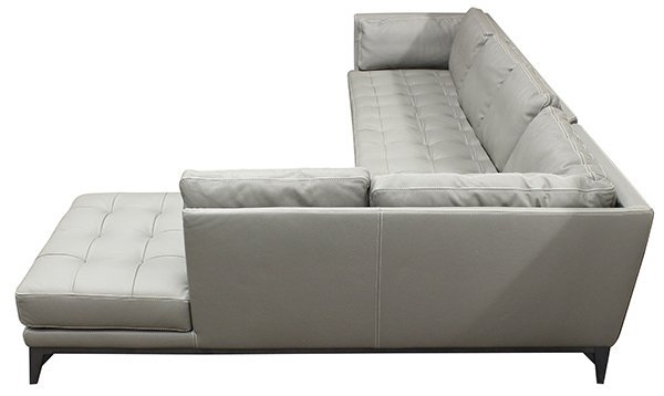 French Roche Bobois leather modular sofa - 4