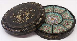 Chinese Canton Enamel Sweet Meat Dishes