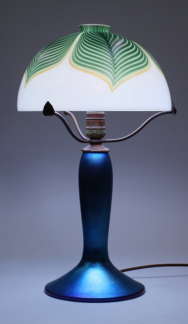 Lundberg Studios iridescent glass lamp
