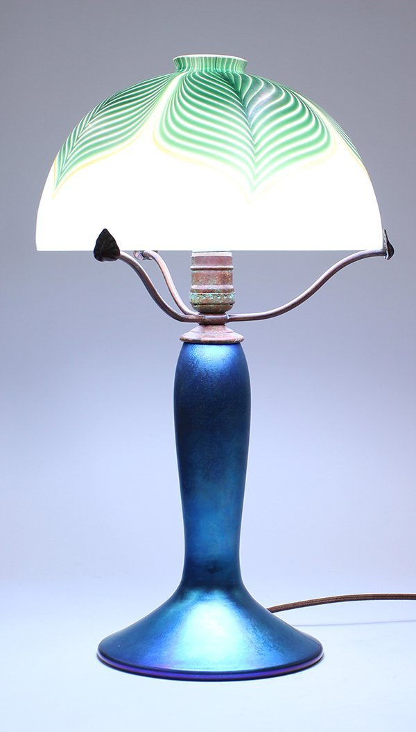 Lundberg Studios iridescent glass lamp - 2