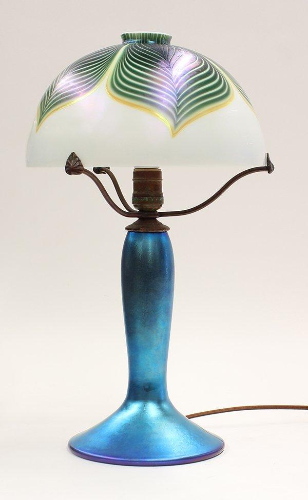 Lundberg Studios iridescent glass lamp - 3