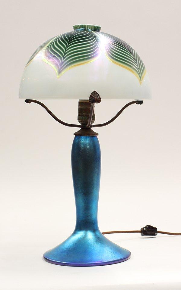 Lundberg Studios iridescent glass lamp - 4
