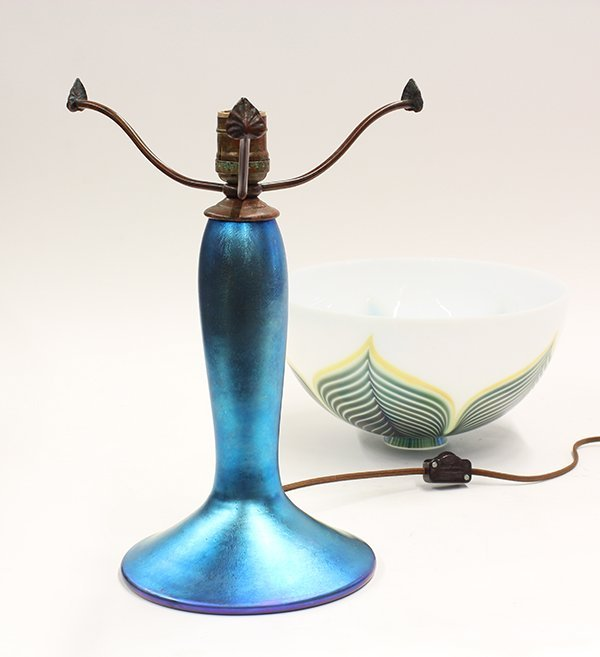 Lundberg Studios iridescent glass lamp - 6