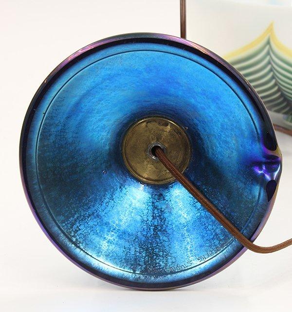 Lundberg Studios iridescent glass lamp - 7