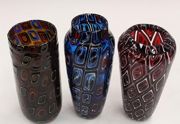 Art glass vases by Michael Nourot - 2